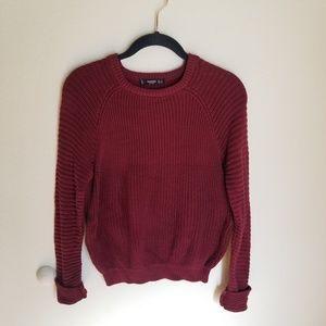 Mango Maroon Crew Neck Sweater